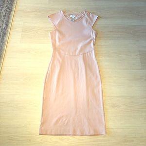 Carmen Marc Valvo pink midi dress